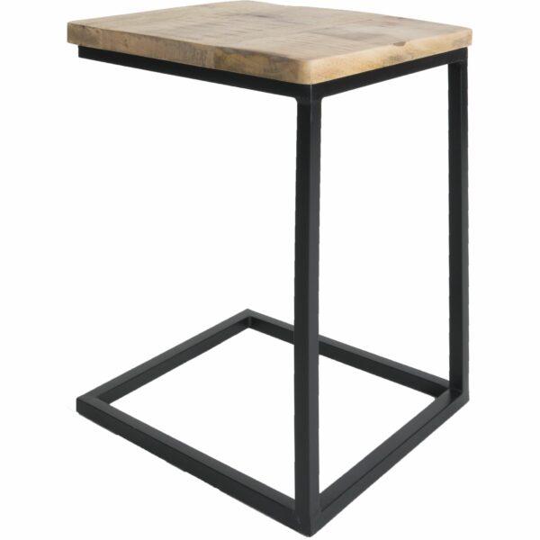 Bijzettafel Zwart Vierkant.Bijzettafel Laptoptafel Roos Hout Zwart